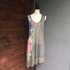 Michael Phillips Dolcezza asymmetric crane dress